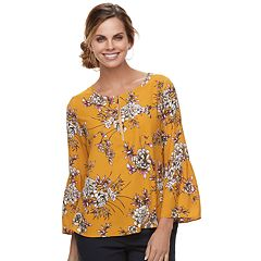 Women's Apt. 9® Zipper Accent Georgette Top