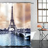 Excell  Eiffel Tower Shower Curtain