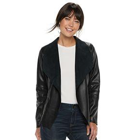 Women's Apt. 9® Faux Leather Flyaway Jacket
