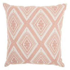 Mina Victory Life Styles Crochet Diamonds Throw Pillow