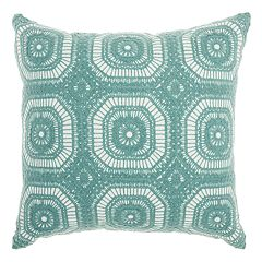Mina Victory Life Styles Crochet Tiles Throw Pillow