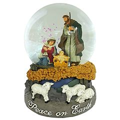 Wind-Up Musical 'Peace On Earth' Christmas Snow Globe