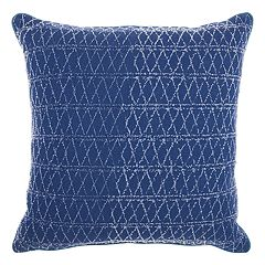 Mina Victory Life Styles Distressed Diamonds Throw Pillow