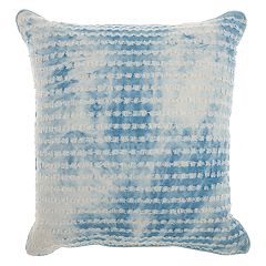 Mina Victory Life Styles Ripped Denim Panel Throw Pillow