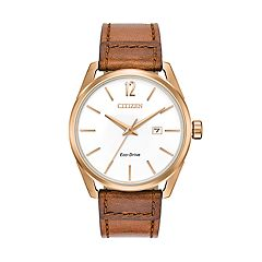 Drive from Citizen Eco-Drive Men's CTO Leather Watch - BM7413-02A