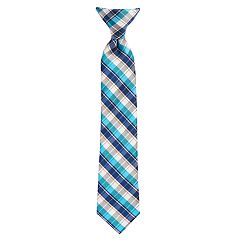 Boys 4-20 Chaps Plaid Clip-On Tie