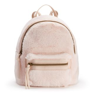 T-Shirt & Jeans Faux-Fur Dome Backpack