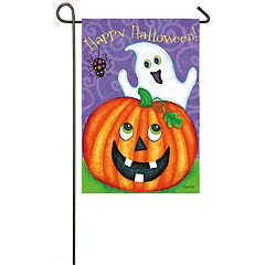 'Happy Halloween' Ghost Indoor / Outdoor Garden Flag