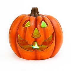 Gerson Smoke Effect Light-Up Pumpkin Halloween Table Decor