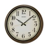 Seiko Splash Resistant Outdoor Wall Clock - QXA548BLH