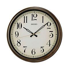 Seiko Splash Resistant Outdoor Wall Clock - QXA548BLH