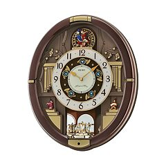 Seiko Melodies in Motion Rotating Pendulum Wall Clock - QXM488BRH