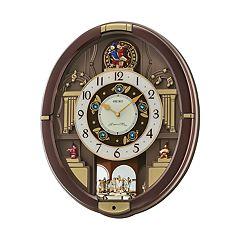 Seiko Melodies in Motion Rotating Pendulum Wall Clock - QXM488BRH