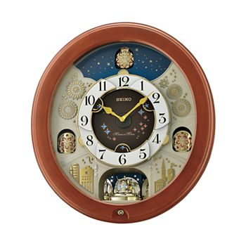 Seiko Melodies In Motion Wall Clock Qxm376brh