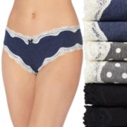 Women's St. Eve 6-Pack Lace Trim Hipster 516401P6