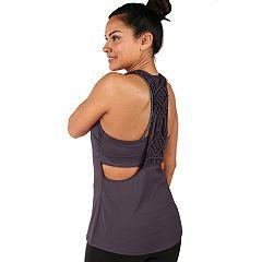 Women's Soybu Vitality Macramé Racerback Yoga Tank