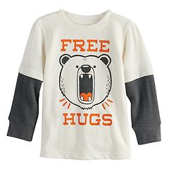 Baby Boy Jumping Beans® 'Free Hugs' Bear Mock Layer Graphic Tee