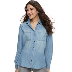 Women's Rock & Republic® Embellished Chambray Shirt