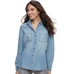 Women's Rock & Republic® Embellished Chambray Shirt