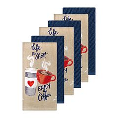 The Big One® Enjoy The Coffee Kitchen Towel 6-pack