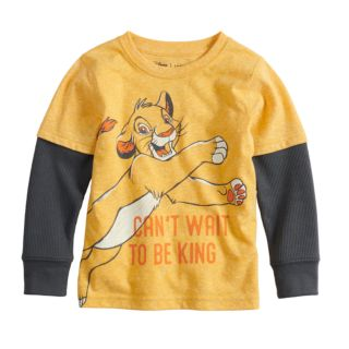 Disney's The Lion King Baby Boy Simba Mock Layer Graphic Tee by Jumping Beans®
