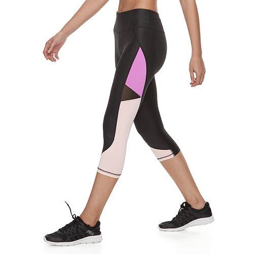 fae216a15387 Women's FILA SPORT® Shiny Ruched Midrise Capri Leggings