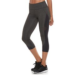Women's FILA SPORT® Shiny Ruched Midrise Capri Leggings