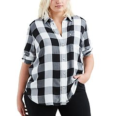 Plus Size Levi's® Plaid Button-Back Shirt