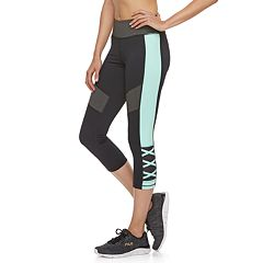 Women's FILA SPORT® Lattice Midrise Capri Leggings