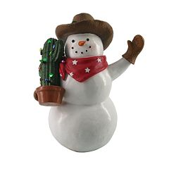 St. Nicholas Square® Light-Up Cowboy Santa Christmas Table Decor