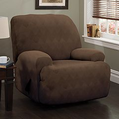 Jeffrey Home Stretch Sensations Stretch Optic Jumbo Recliner Slipcover