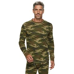 Big & Tall Croft & Barrow® Camo Thermal Base Layer Crewneck Top