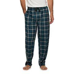 Men's Van Heusen Plaid Silky Fleece Sleep Pants