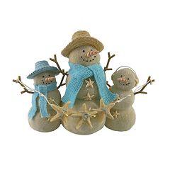 St. Nicholas Square® Light-Up Coastal Snowman Christmas Decor