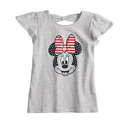 Disney's Minnie Mouse Girls 4-10 Glittery Patriotic Tee by Jumping Beans®
