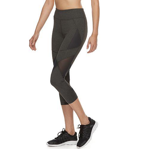 4d95347285d90 Women's FILA SPORT® Mesh Inset Midrise Capri Leggings