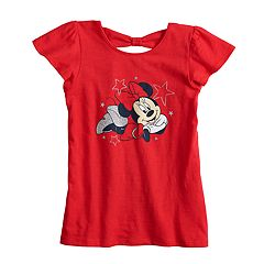 Disney's Minnie Mouse Girls 4-10 Patriotic Glitter Tee by Jumping Beans®