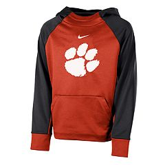 Boys 8-20 Nike Clemson Tigers Therma-FIT Colorblock Hoodie