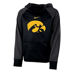 Boys 8-20 Nike Iowa Hawkeyes Therma-FIT Colorblock Hoodie