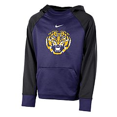 Boys 8-20 Nike LSU Tigers Therma-FIT Colorblock Hoodie