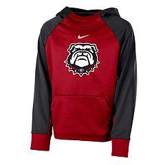 Boys 8-20 Nike Georgia Bulldogs Therma-FIT Colorblock Hoodie