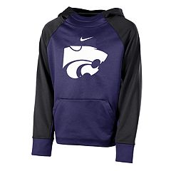 Boys 8-20 Nike Kansas State Wildcats Therma-FIT Colorblock Hoodie