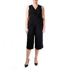 Women's Nina Leonard Wide-Leg Capri Jumpsuit