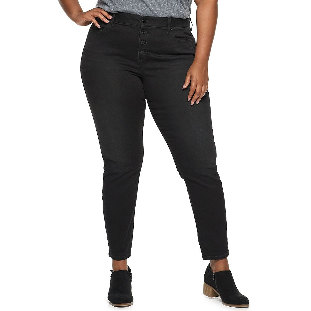 Plus Size SONOMA Goods for Life® High Rise Skinny Jeans