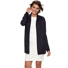 Women's Nina Leonard Shawl Collar Open-Front Cardigan