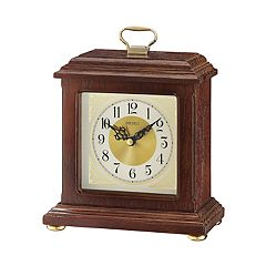 Seiko Wooden Carriage Desk Clock - QXG147BLH
