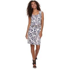 Women's Nina Leonard Print Popover Dress
