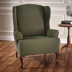 Jeffrey Home Stretch Sensations Stretch Optic Wing Chair Slipcover