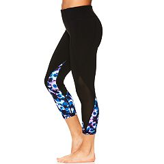 Women's Gaiam Karma Mesh Print Midrise Capri Leggings