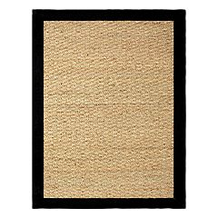 Chesapeake Seagrass Framed Solid Rug